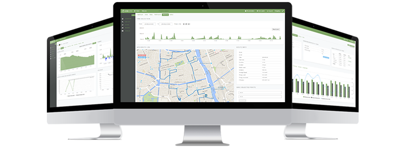 An overview of an operators fleet, displayed in ViriCiti's online platform for electric vehicle monitoring.
