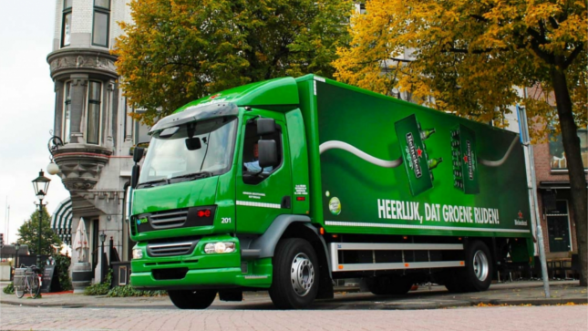 Electric truck used for Distrubution, which is being monitored with ViriCiti's elecric vehicle telematics software.