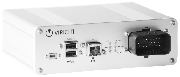The DataHub. ViriCiti's own hardware to accompany their electric vehicle telematics software.