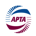 Logo for APTA, one of ViriCiti's partners.