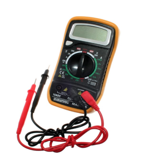 Multimeter tool to check a component of an electric bus